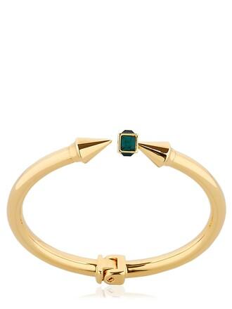 mini gold green jewels
