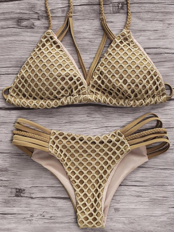 swimwear bikini summer beach fashion style trendy green hot sexy strappy dressfo