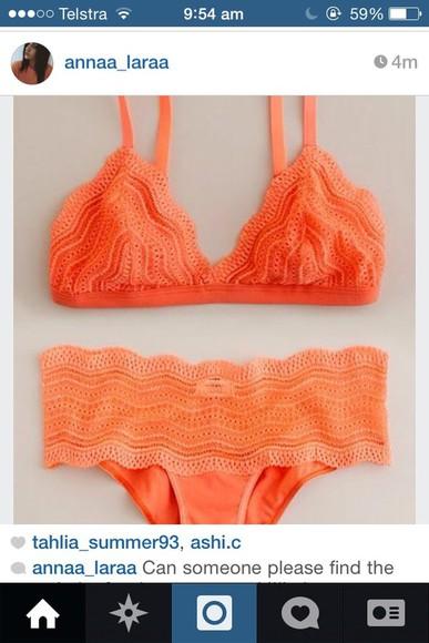 orange swimwear bikini orange bikini togs