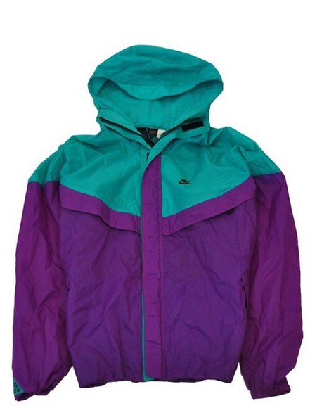 nike cute tumblr jacket fashion purple and blue