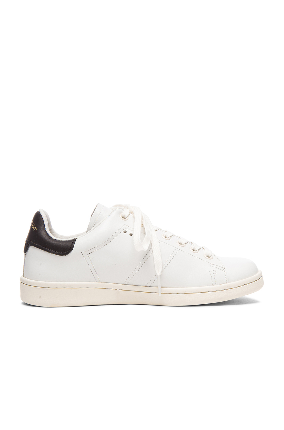 isabel marant etoile bart leather sneakers in white fwrd. Black Bedroom Furniture Sets. Home Design Ideas