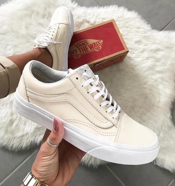 shoes vans vans old skool cream