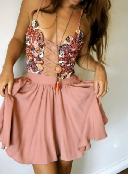 cross skirt strap dress dressy fancy