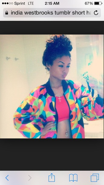 india westbrooks bomber jacket colorful