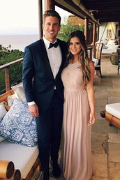 dress,jojo fletcher,gown,prom dress,maxi dress,instagram,nordstrom,criss cross back,chiffon dress,ball gown dress,elegant dress,halter dress