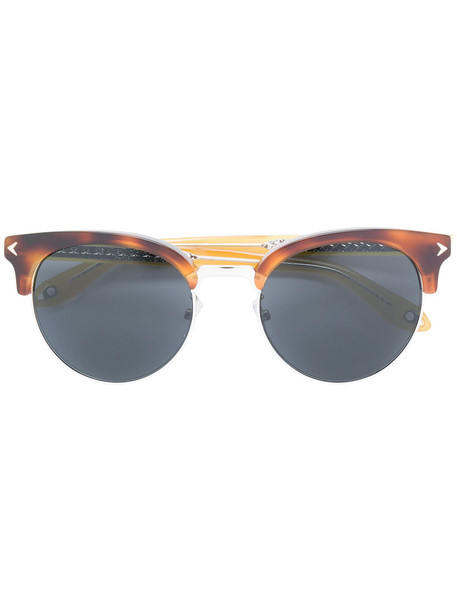 Givenchy Eyewear metal women sunglasses brown
