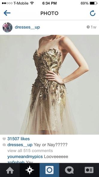 dress gold fancy detailed vintage glitter instagram pretty brass
