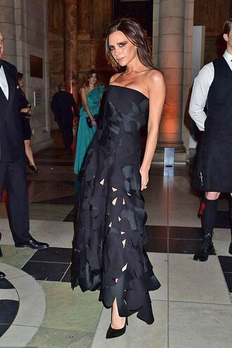 dress bustier dress strapless victoria beckham black dress