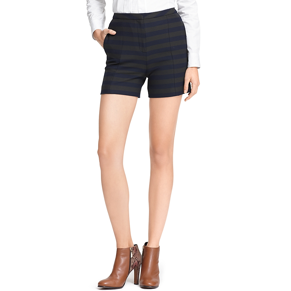 Stripe High Waist Short | Tommy Hilfiger USA