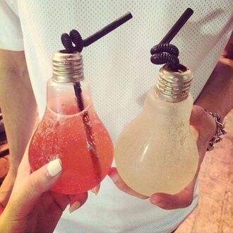 bag cup bulb pink home accessory drink water bottle lamp bottle lamp lamp for party glass light bulb lamp glass bottle cocktail jar fashion style cool trendy summer drinks it girl shop