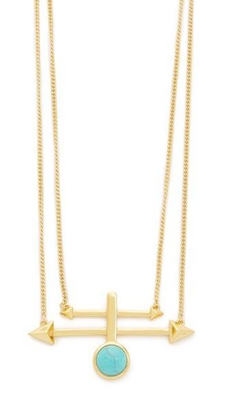 boho necklace pendant gold turquoise jewels