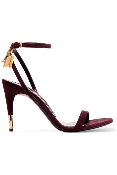 Tom Ford sandals suede plum shoes