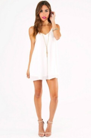 dress strapless dress white dress strappy dress boho shift dress flowy dress white dress, flowy, cute short dress