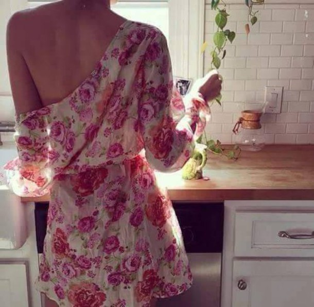 dress clothes floral flowers tumblr tumblr outfit