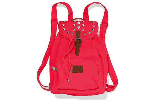 bag studed pink backpack