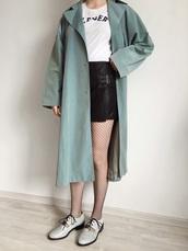 kristina magdalina,blogger,jewels,coat,t-shirt,skirt,shorts,shoes