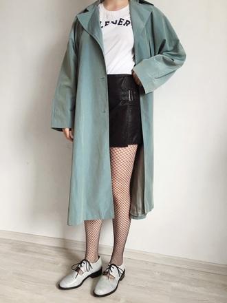 kristina magdalina blogger jewels coat t-shirt skirt shorts shoes