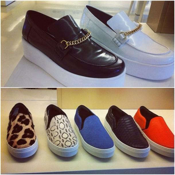 shoes, slip-on, celine, leopard print