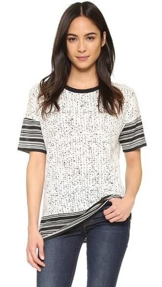 white print black top