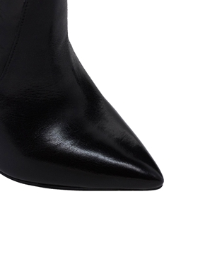 River Island | River Island Leather Point Zip Ankle Boots at ASOS