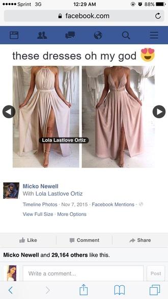 dress nude long dress cute