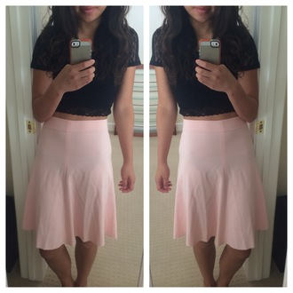 skirt pink skater skirt pink skirt pink skater skirt light pink baby pink mabell