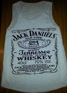 Jack daniels white vest top. | eBay
