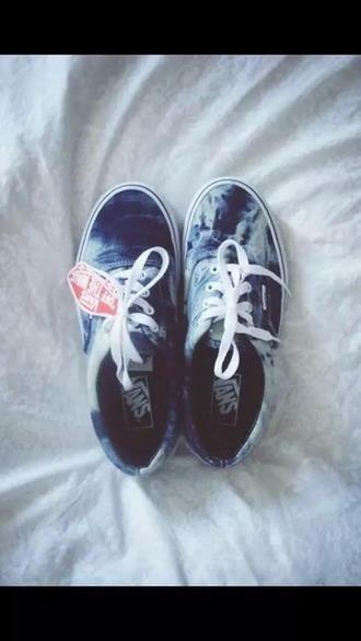shoes vans blue white cute