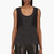 costume national black dot and lace silk tank top