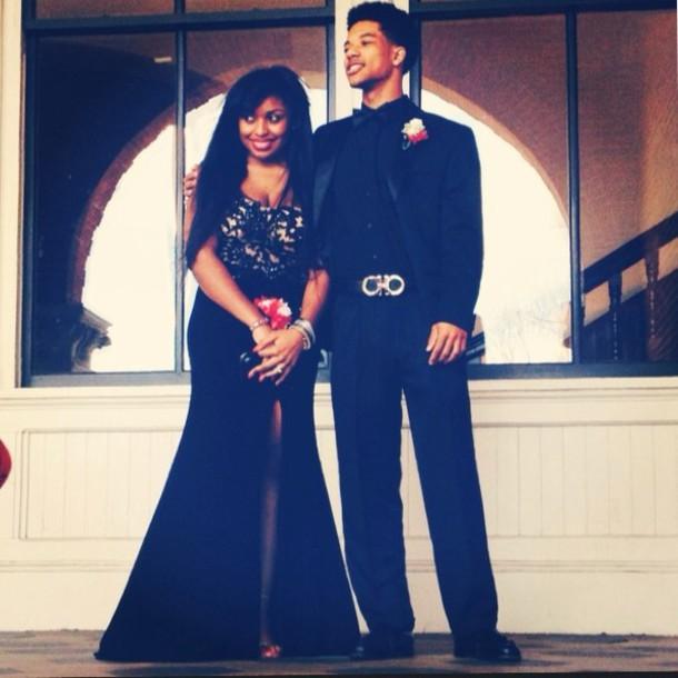 dress lace dress black prom dress
