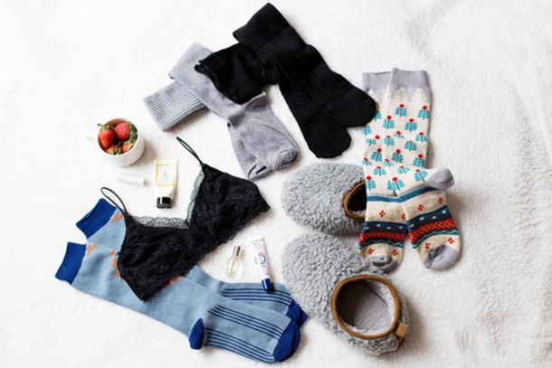 von vogue blogger underwear socks