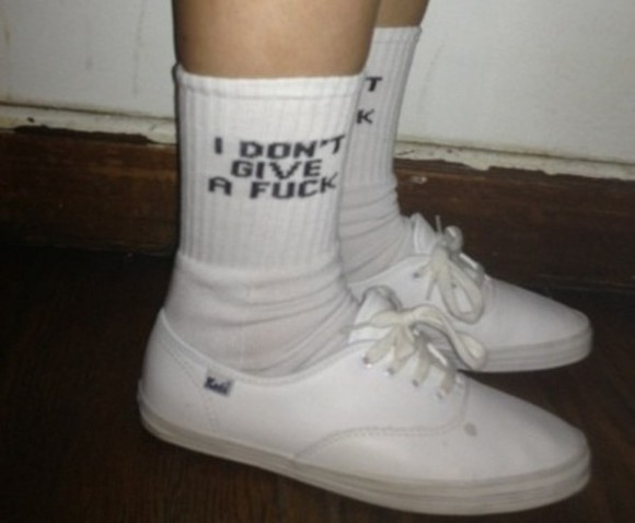 hipster tumblr underwear keds shoes socks fuck off