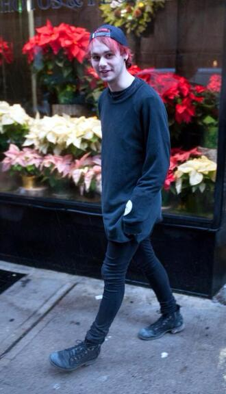 michael clifford oversized oversized sweater menswear sweater
