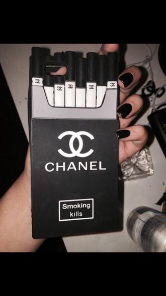 phone cover cigarettes black chanel