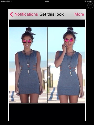 dress fashion grey desse grey gorgeous summer dress summer outfits undress vibe good