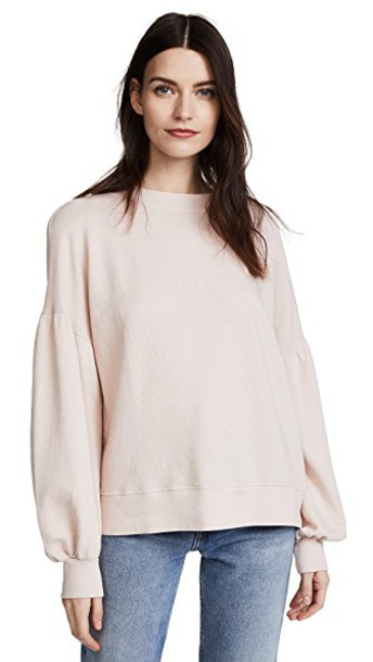 Joie Isae Puff Sleeve Sweatshirt in rose