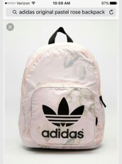 bag,rose gold,adidas,adidas backpack,backpack