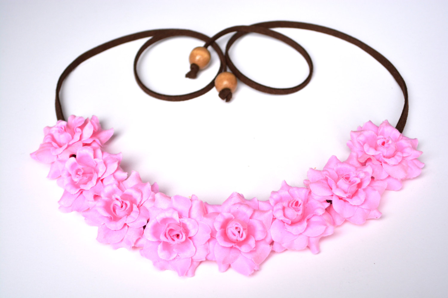 Pink rose flower crown pink flower halo floral headband festival headpiece pink rose hippie headwrap rose crown festival flower halo