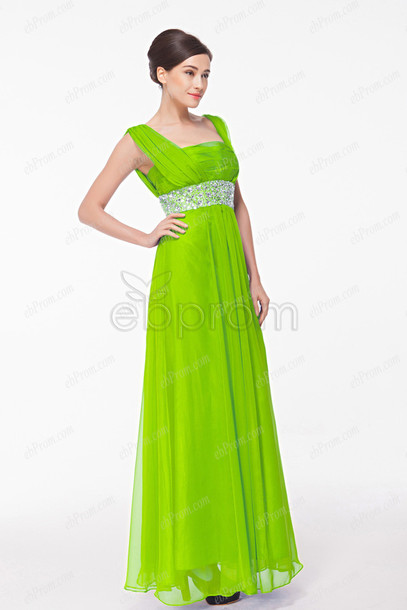 Plus size lime green evening dresses