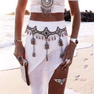 skirt divergence clothing maxi skirt boho boho chic divergenceclothing coachella onlinestore boutique sexyskirt whiteskirt summerfashion slit skirt asymmetrical skirt beach