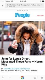coat,j lo black leather fur hood