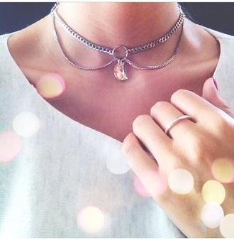jewels necklace choker necklace jewelry