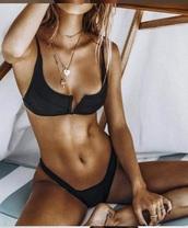 swimwear,girl,girly,girly wishlist,black,bikini,bikini top,bikini bottoms,two-piece,swimwear two piece