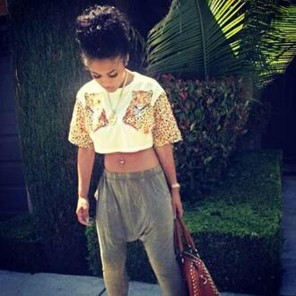 shirt tank top animal print love orange green cute crop tops india westbrooks pants