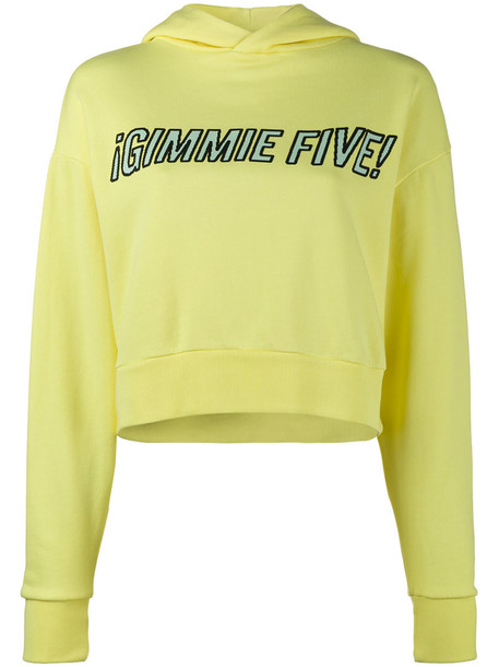Ashley Williams hoodie women cotton yellow orange sweater