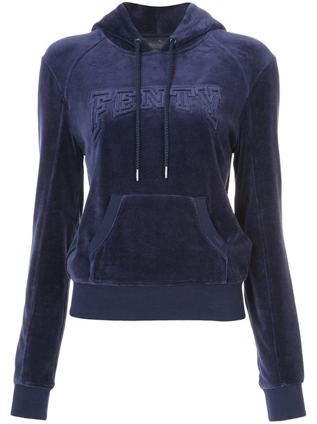 Fenty x Puma pullover women cotton blue sweater