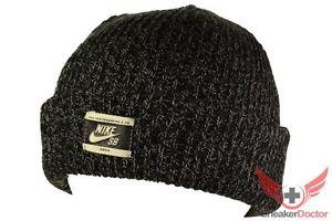 Nike SB Beanie Black Heather Skull Cap Skully Prod Winter Hat | eBay