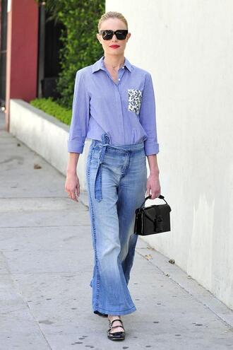 jeans flare jeans flare kate bosworth flats shirt sunglasses
