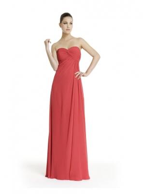 Buy Beautiful Watermelon A-line Sweetheart Empire Waist Floor Length Prom Dress with 104.99-SinoAnt.com