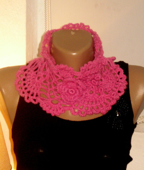 women handmade dress scarf hand knit scarf button scarf loop scarf handmade scarf scarfves knitted scarfs infinity scarves pink scarf pink lace scarf pink knitted cardigan fashion toast